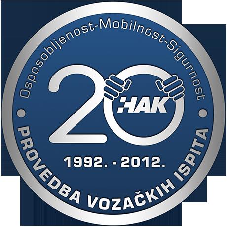 20. obljetnica provedbe vozačkih ispita u Hrvatskom autoklubu (1992.-2012.)