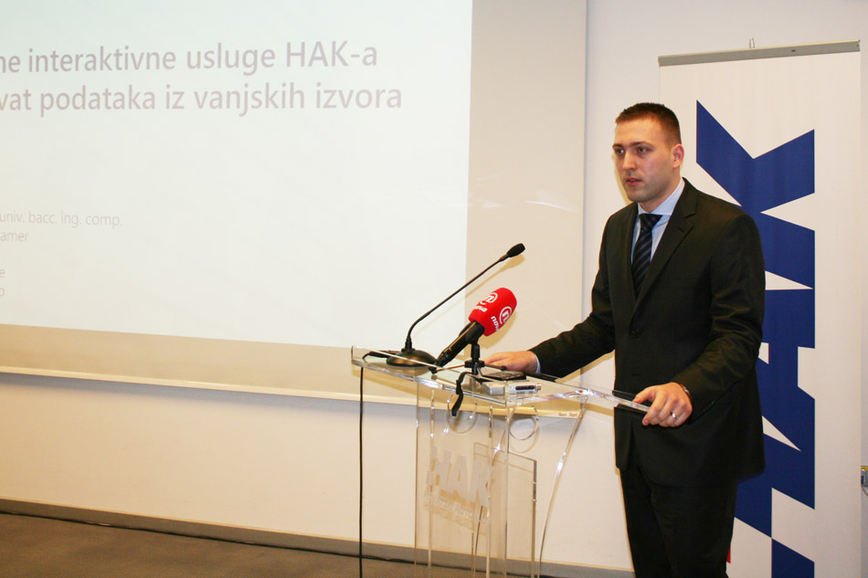 Goran Baotić iz odjela informatike HAK-a