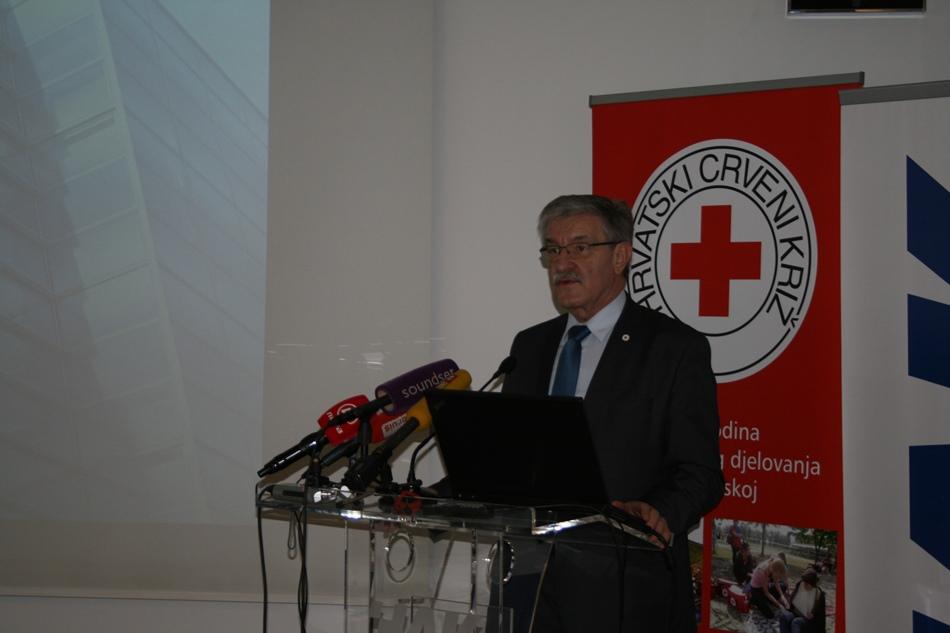 Predsjednik Hrvatskog Crvenog križa prim. Josip Jelić, dr.med.
