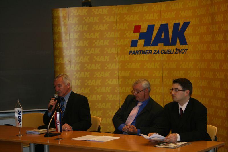 Davor Georg Lisicin - koordinator međunarodnih projekata (HAK), Darko Brozović - voditelj EuroTest projekta u HAK-u i Igor Novačić - zamjenik voditelja EuroTest projekta  u HAK-u
