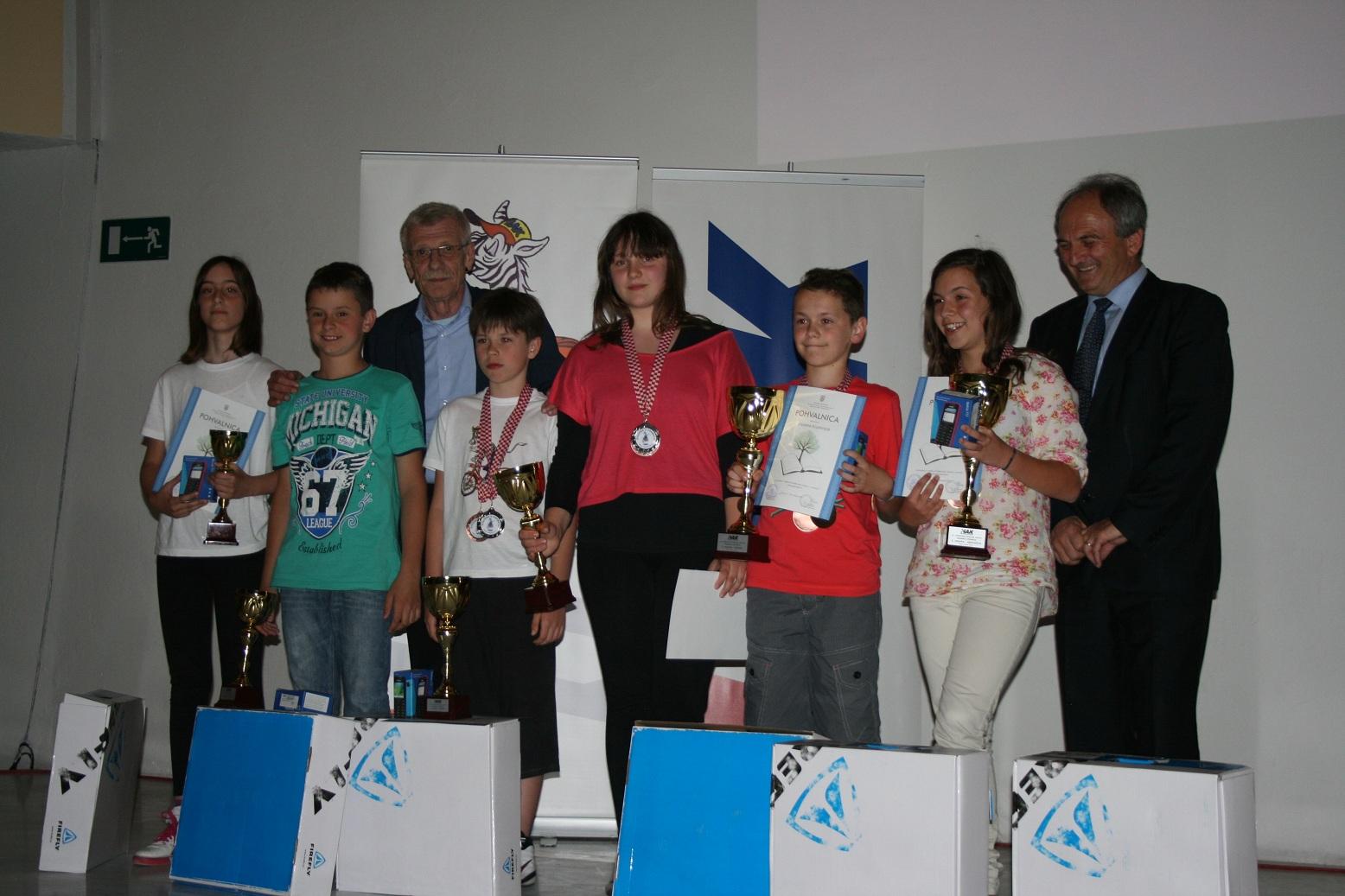 Proglašenje pobjednika s glavnim tajnikom HAK-a, Zvonkom Šmukom i Stjepanom Peršinom, članom Upravnog odbora HAK-a