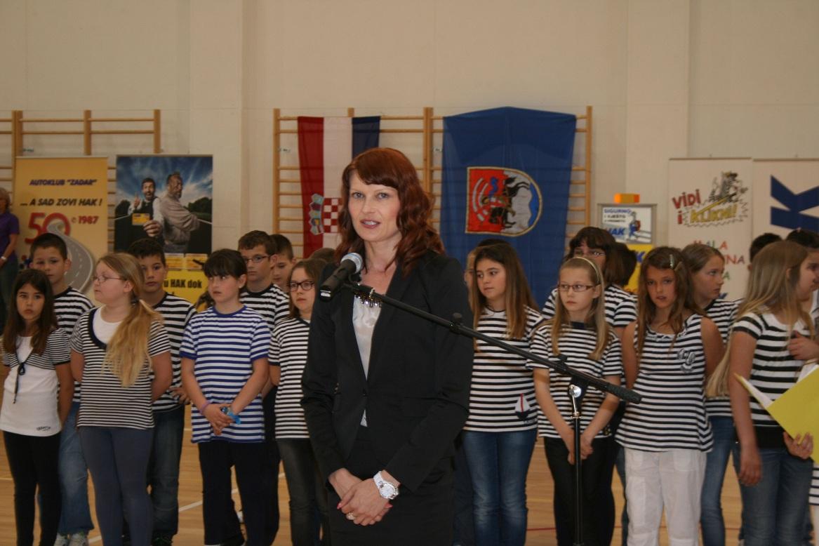 Sa otvaranja natjecanja, savjetnica ministra znanosti obrazovanja i sporta Sabina Glasovac
