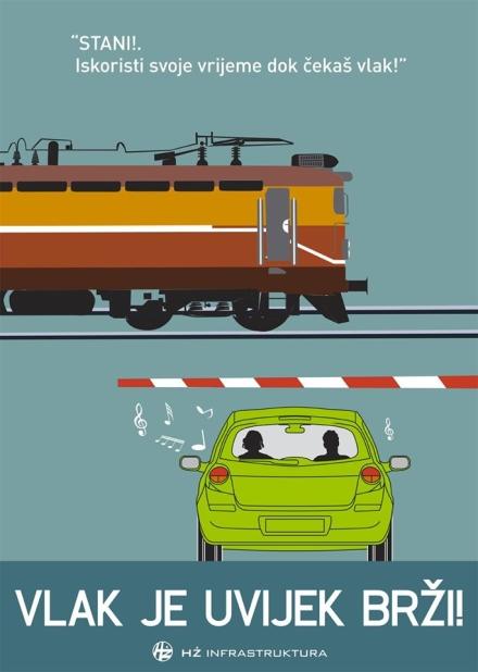 """Akcija """"Vlak je uvijek brži"""""""