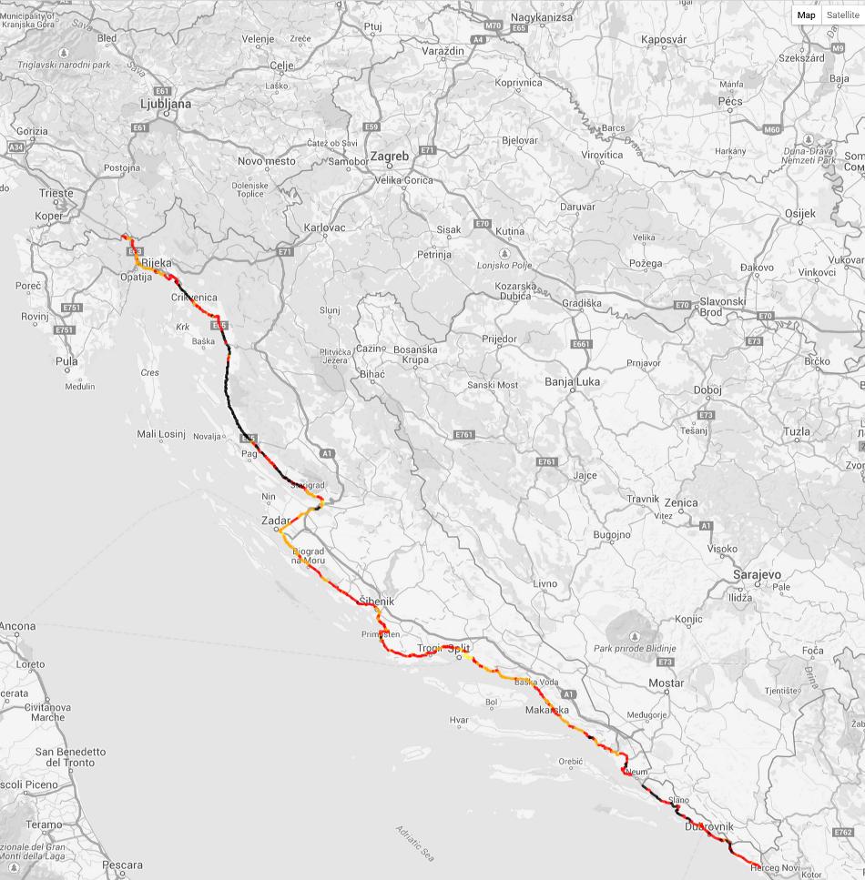 EuroRAP: Jadranska magistrala najrizičnija cesta u Republici Hrvatskoj!?