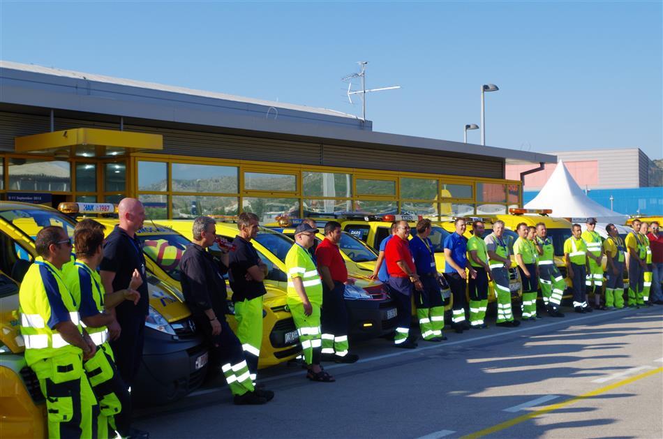 Sve ekipe ispred HAK-ovog centra u Šibeniku - Pomoć na cesti – trening za izvrsnost (Road Patrol - Training for Excellence)