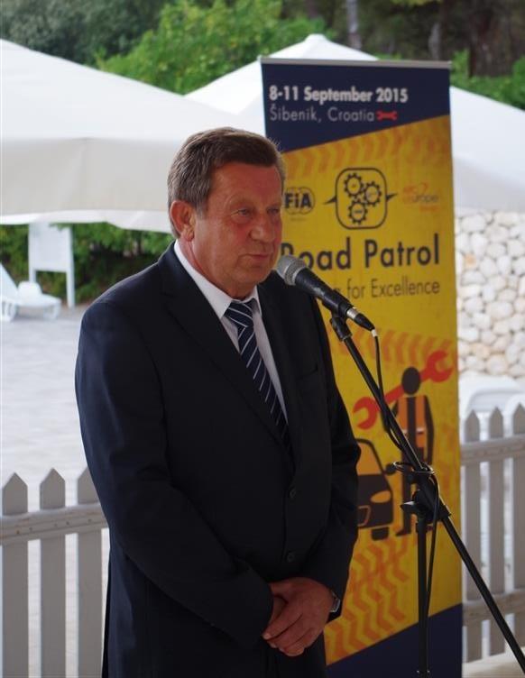 Predsjednik Hrvatskog autokluba Slavko Tušek