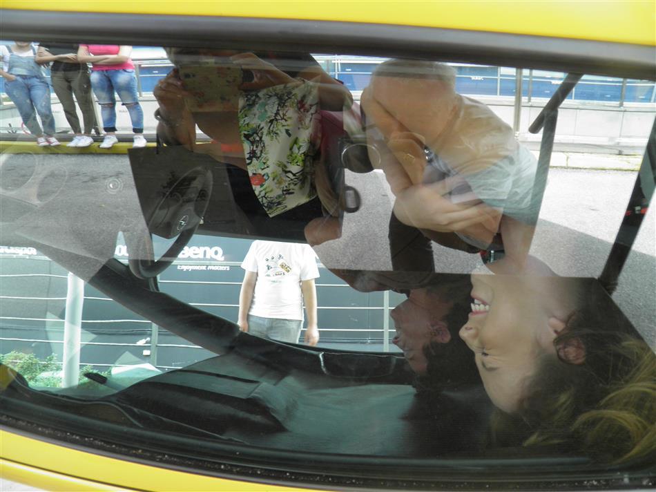 Europski tjedan mobilnosti - 2016 - Učenici na simulatoru prevrtanja