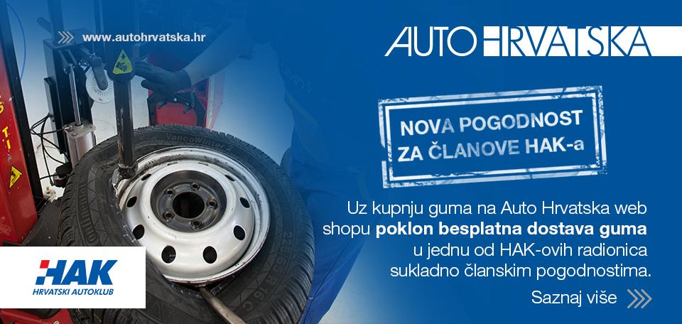 HAK i Auto Hrvatska - besplatna dostava guma