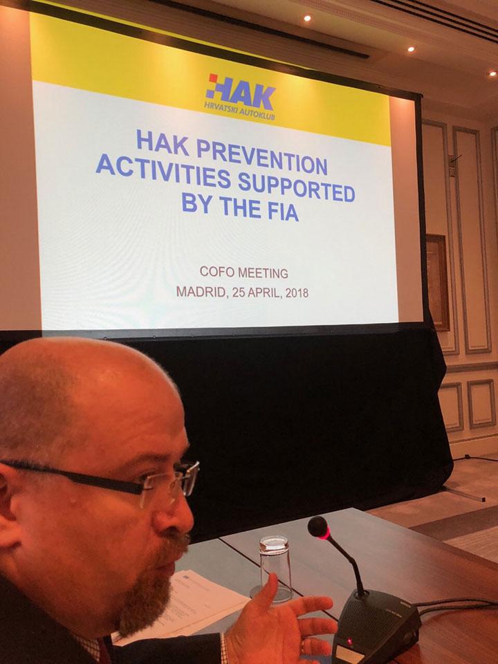 Koordinacijski forum - prezentacija HAK-a (na slici g. Alan Vojvodić, Voditelj Ureda Predsjednika i Glavnog tajnika HAK-a)