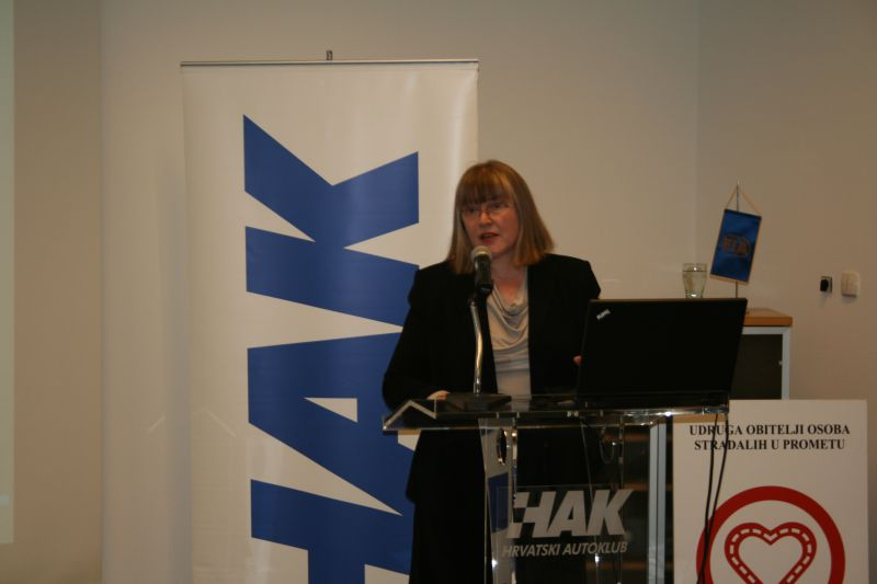 Ljiljana Mikuš, pročelnica Sekcije za prometnu psihologiju HPD-a