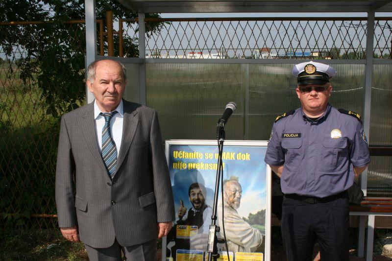Jerko Matanović, zamjenik tajnika AK Varaždin i Predrag Benčić iz PP Varaždinske