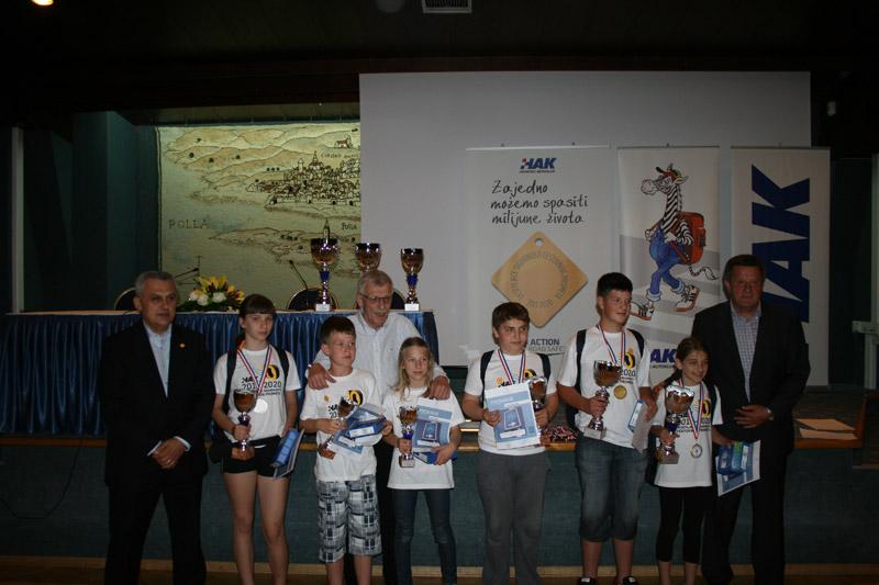 Vodstvo HAK-a s pobjednicima natjecanja nakon dodjele nagrada u hotelu Histria u Puli