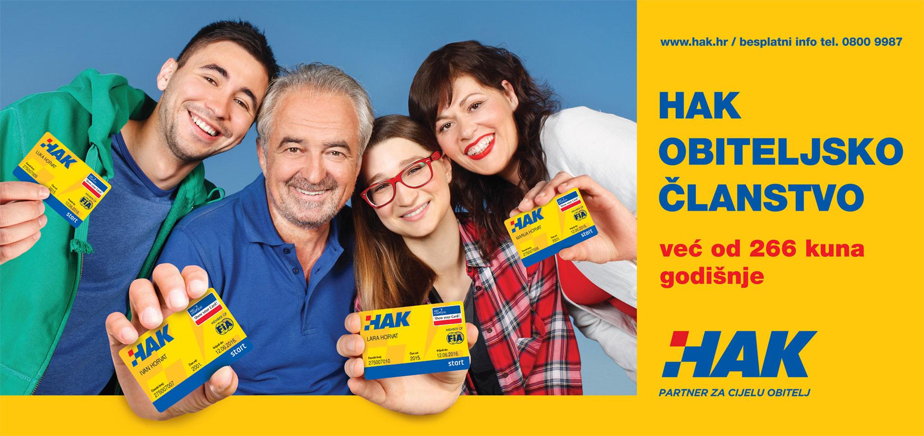 HAK - Obiteljsko članstvo