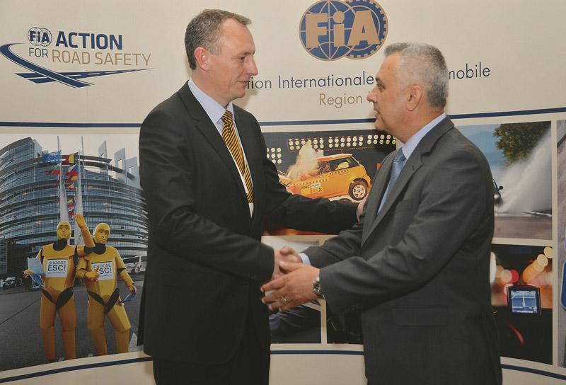 Predsjednik HAK-a Ivo Bikić sa direktorom FIA regije I Jacobom Bangsgaardom