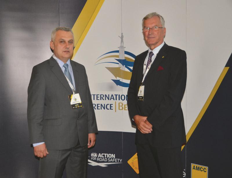 Predsjednik HAK-a Ivo Bikić sa predsjednikom FIA regije I Wernerom Krausom