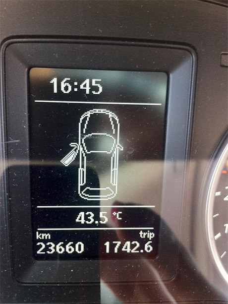 Temperatura u automobilu