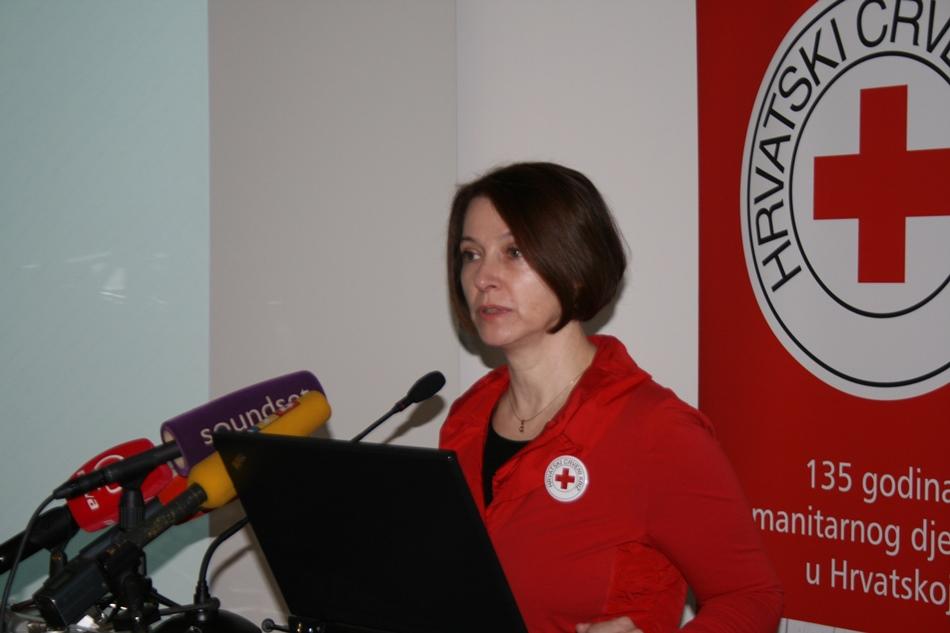 Dr. Žarka Rogić iz Hrvatskog Crvenog križa