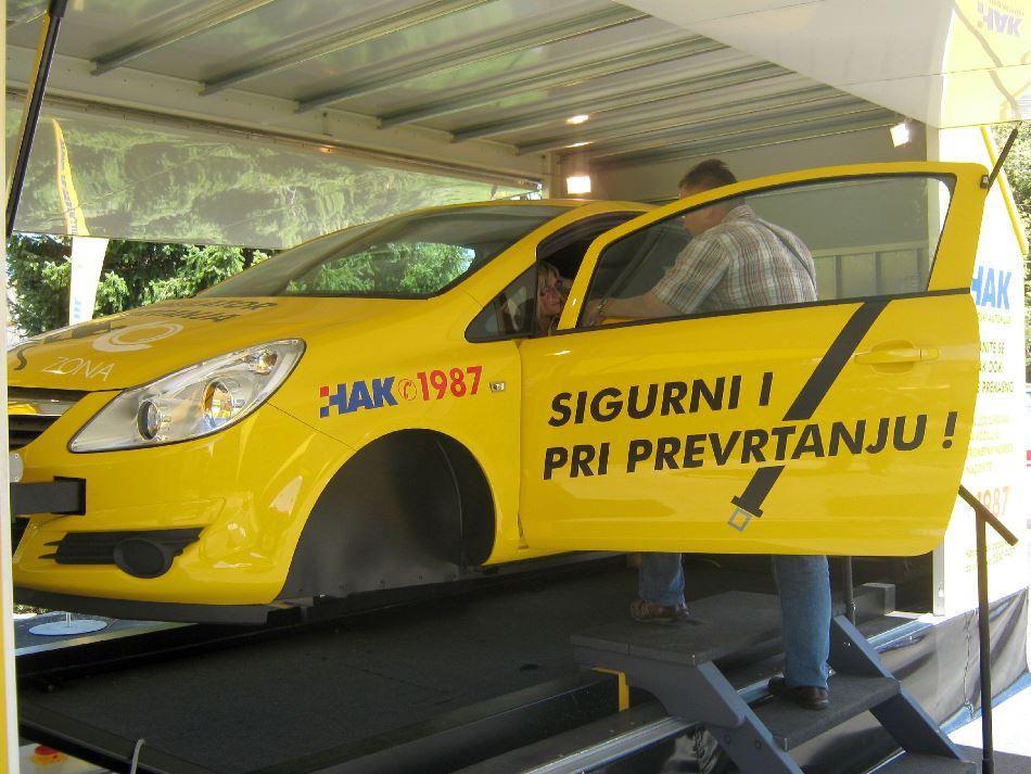 HAK-ov simulator prevrtanja u Đurđevcu