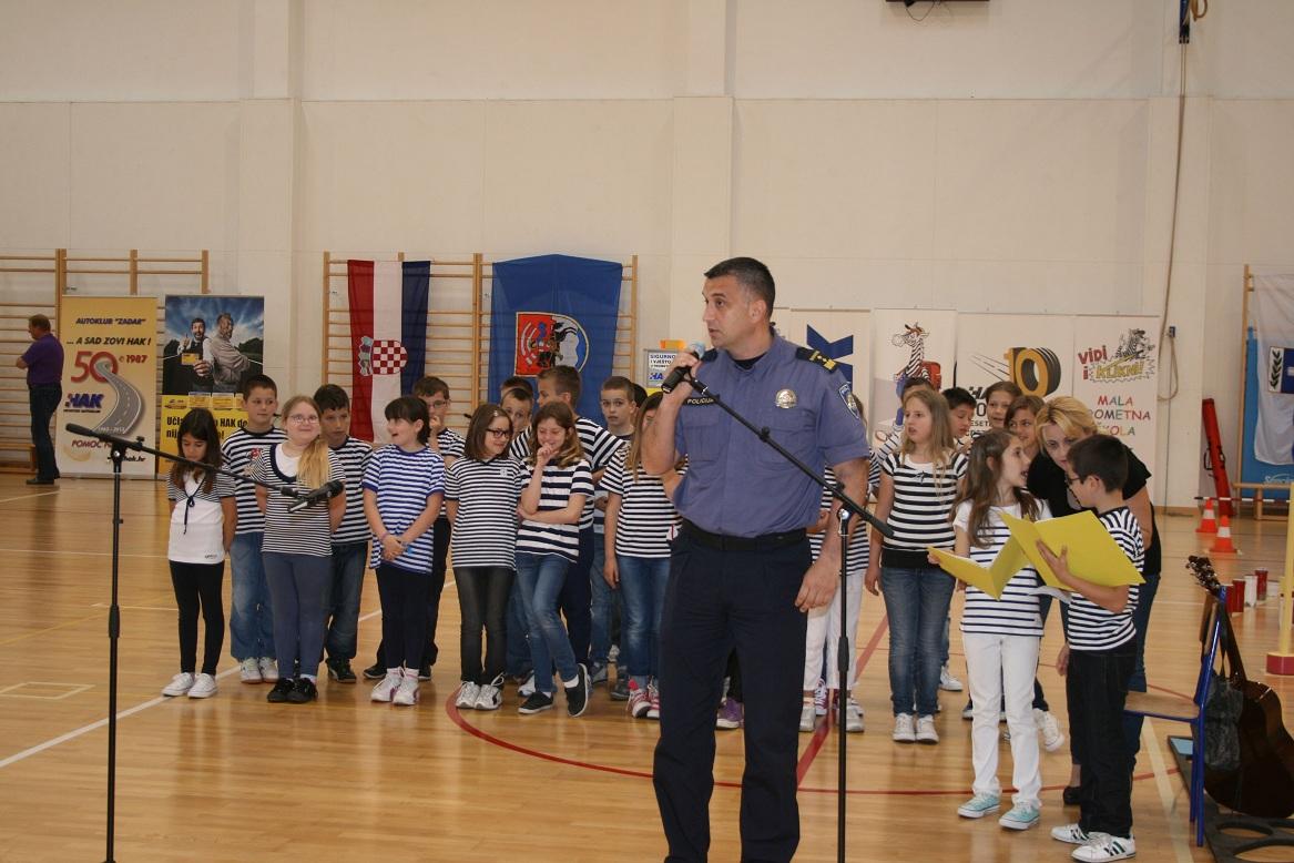Sa otvaranja natjecanja, predstavnik policijske uprave Zadarske Elvis Perinčić