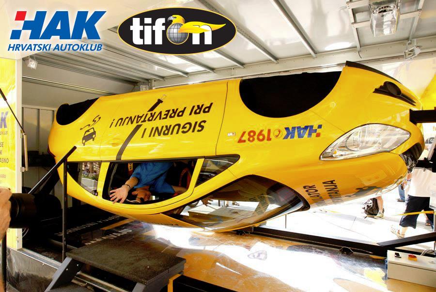 Hrvatski autoklub i Tifon organiziraju provjeru na simulatoru prevrtanja