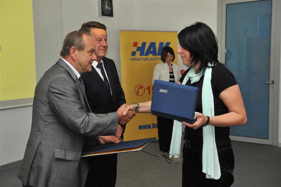 Dobitnica godišnje nagrade HAK-a - Sandrina Žgrablić