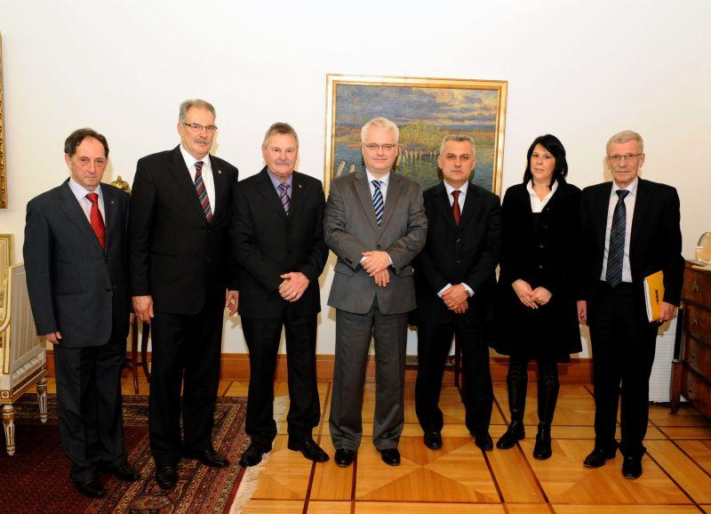 Delegacija HAK-a kod predsjednika RH prof.dr.sc. Ive Josipovića