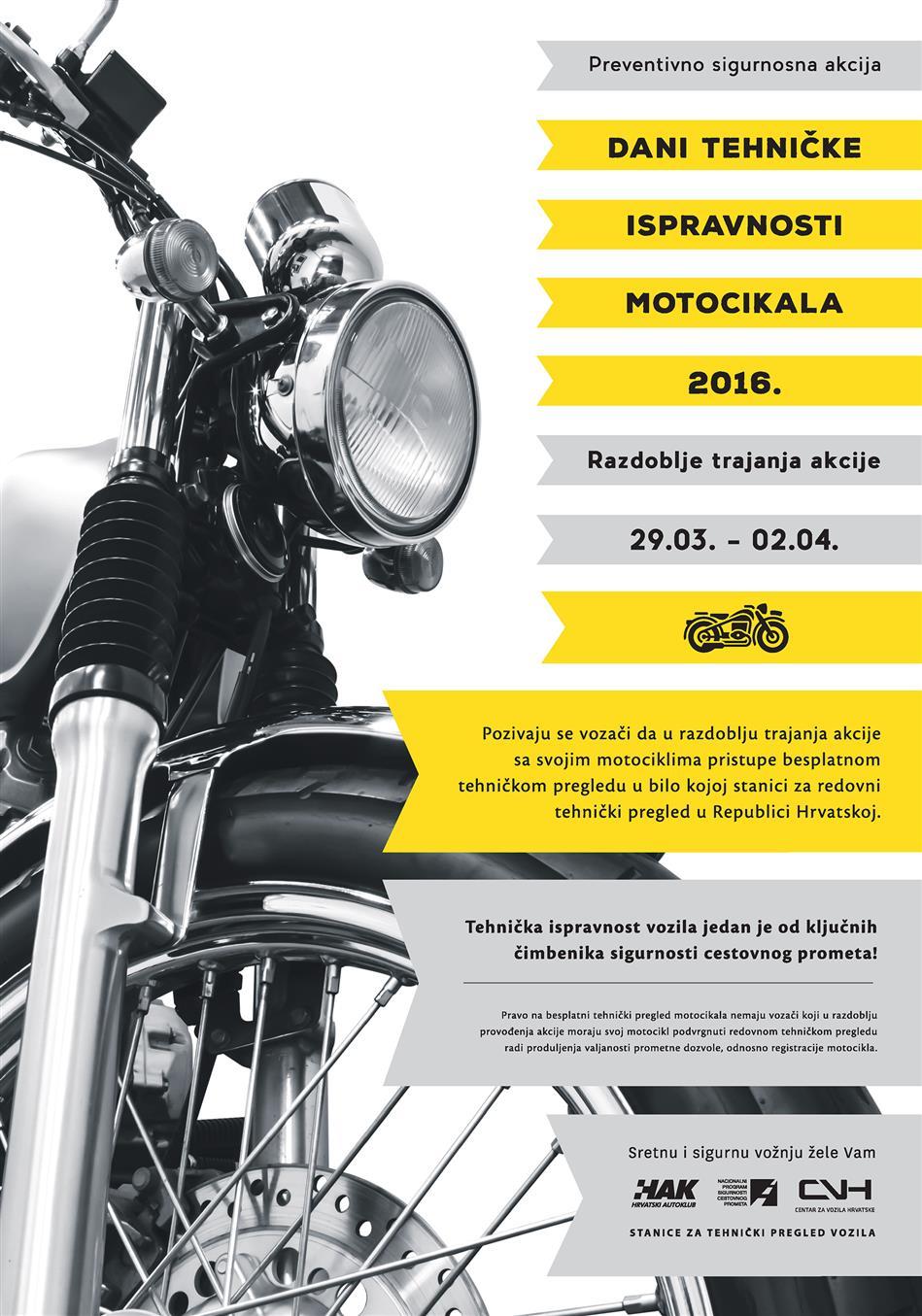 Dani tehničke ispravnosti motocikala 2016.