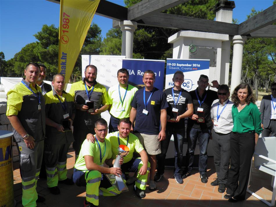 Pomoć na cesti – trening za izvrsnost (Road Patrol - Training for Excellence) - Prve tri ekipe s natjecanja u Šibeniku