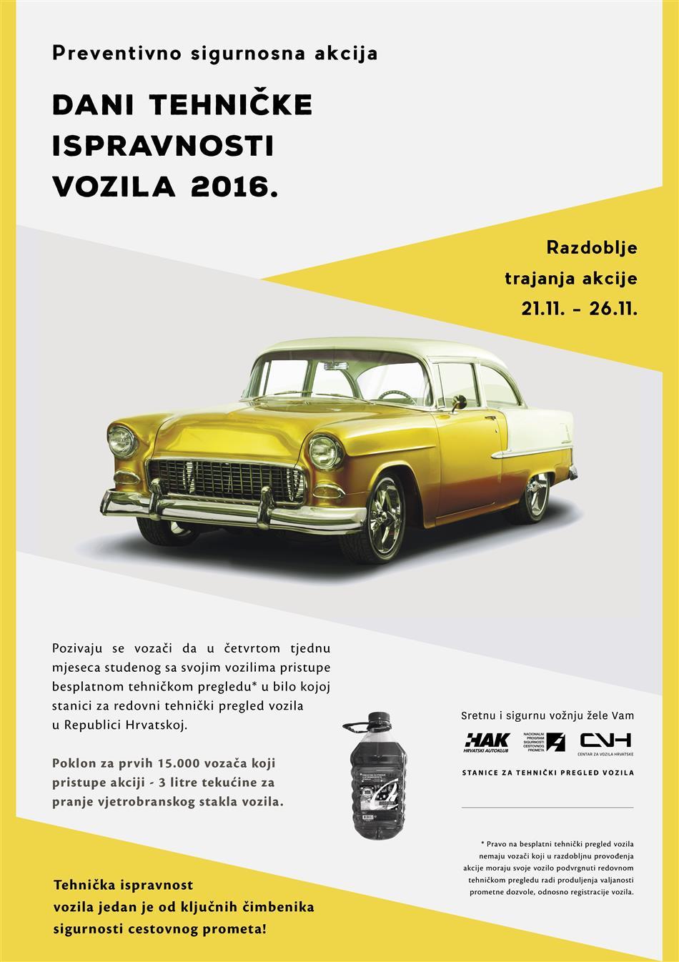 Dani tehničke ispravnosti vozila 2016.