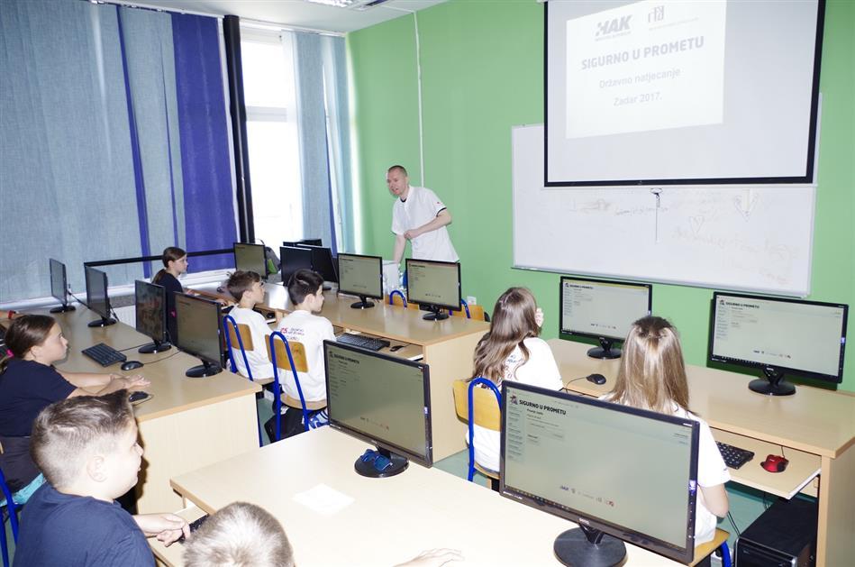 Teorijski dio natjecanja polagao se na računalima