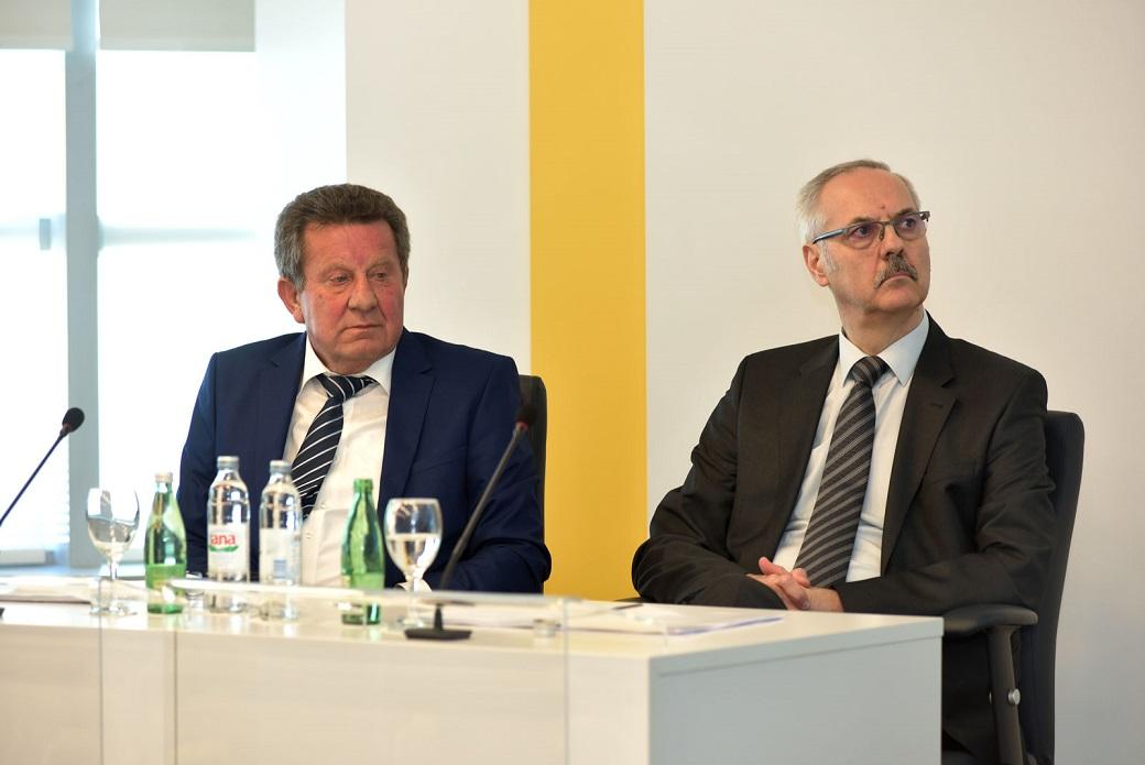 Predsjednik HAK-a Slavko Tušek i Glavni tajnik HAK-a Željko Mijatović