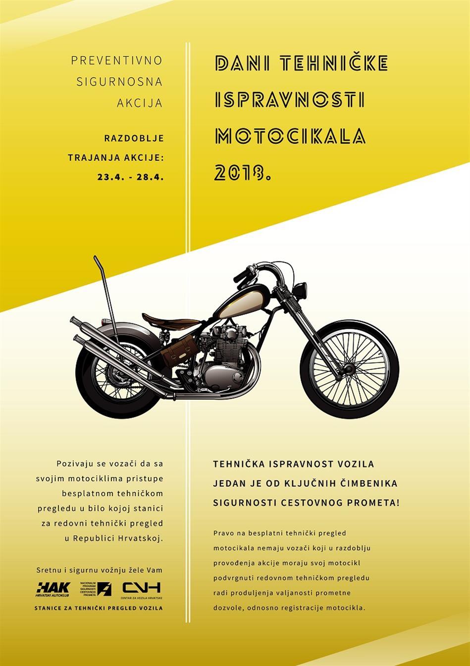 Dani tehničke ispravnosti motocikala 2018.