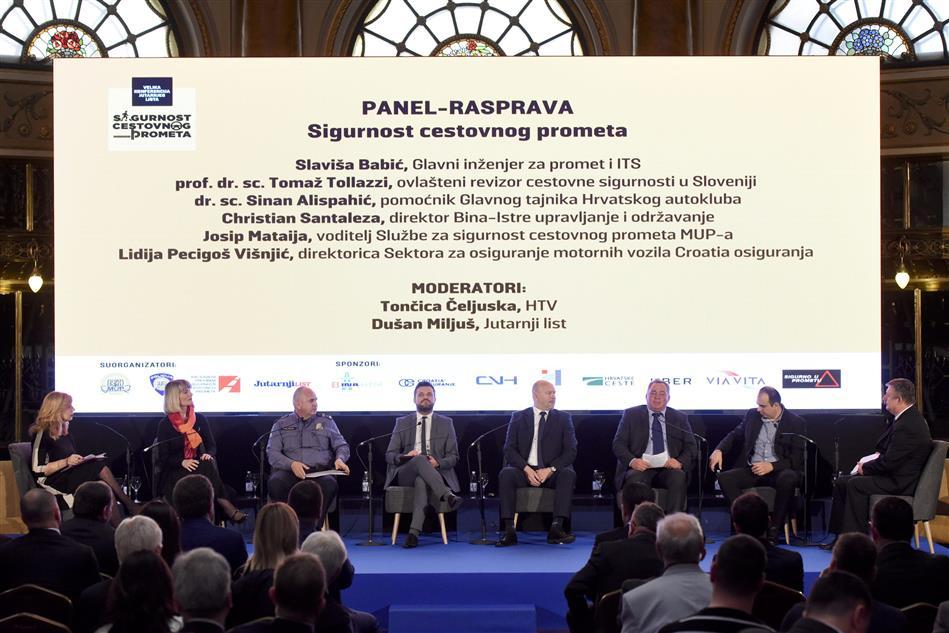 Panell rasprava konferenicje o sigurnosti cestovnog prometa