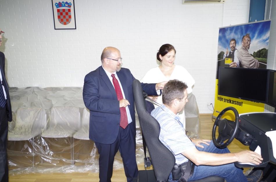 Simulator vožnje u Temeljnom Autoklubu Varaždin