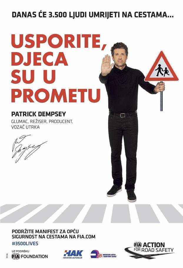 Patrick Dempsey - Usporite, djeca su u prometu