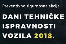 Dani tehničke ispravnosti vozila 2018.