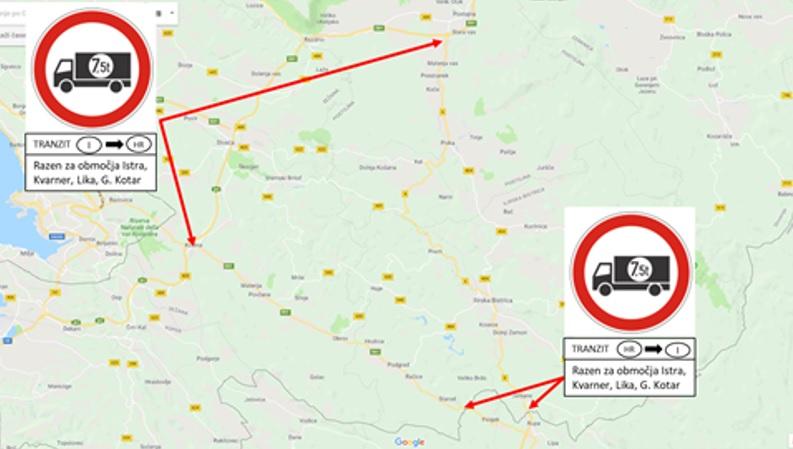 Ograničenje u Sloveniji za vozila iznad 7,5t