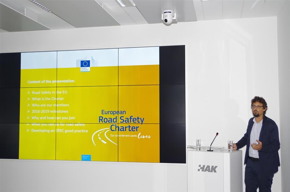 Félix Vandemeulebroek iz European Road Safety Charter Team-a