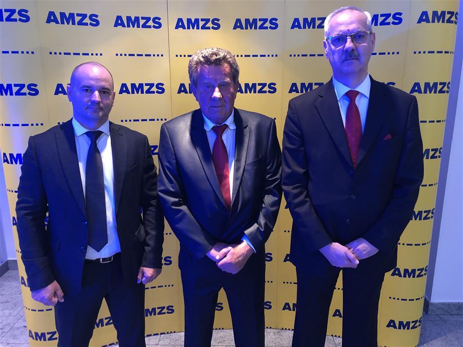Zamjenik glavnog tajnika dr.sc. Igor Šiško, Predsjednik Hrvatskog autokluba Slavko Tušek i glavni tajnik Željko Mijatović