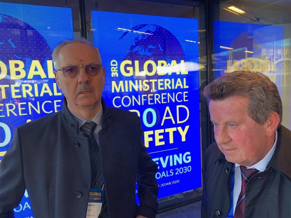 Predsjednik HAK-a Slavko Tušek i Glavni tajnik HAK-a Željko Mijatović na konferenciji