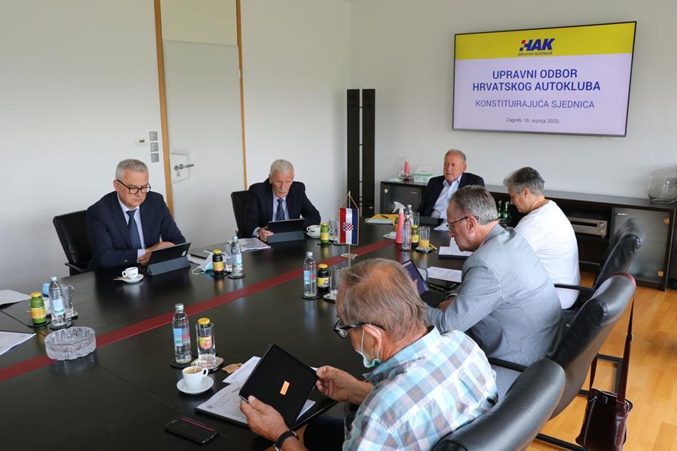 Održana konstituirajuća sjednica Upravnog odbora Hrvatskog autokluba
