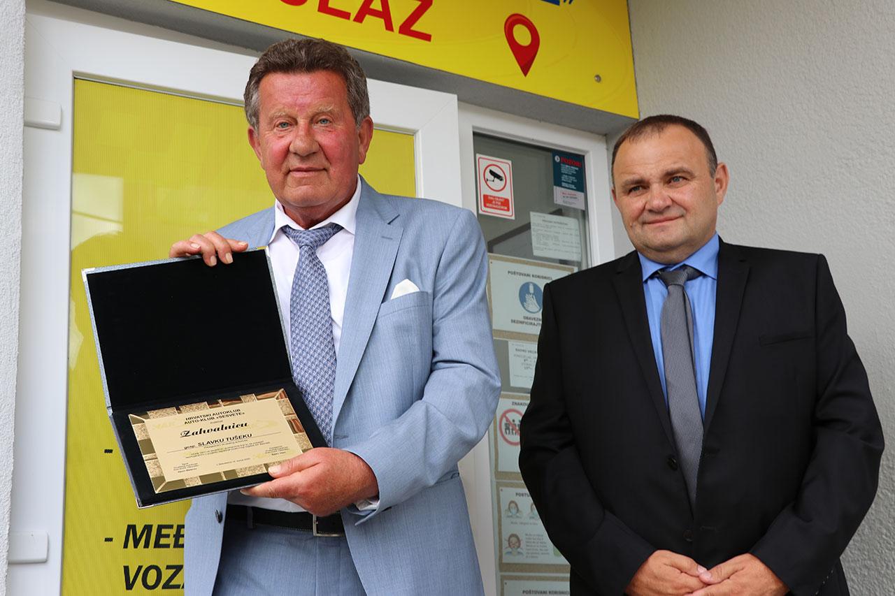 Predsjednik HAK-a Slavko Tušek i Predsjednik AK Sesvete Željko Vizec
