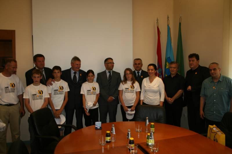 Delegacija HAK-a, MUP-a, Agencije za odgoj i obrazovanje kod domaćina u sjedištu Istarske županije