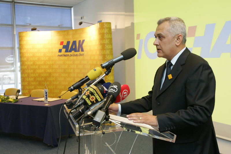 Obraćanje predsjednika HAK-a Ive Bikića