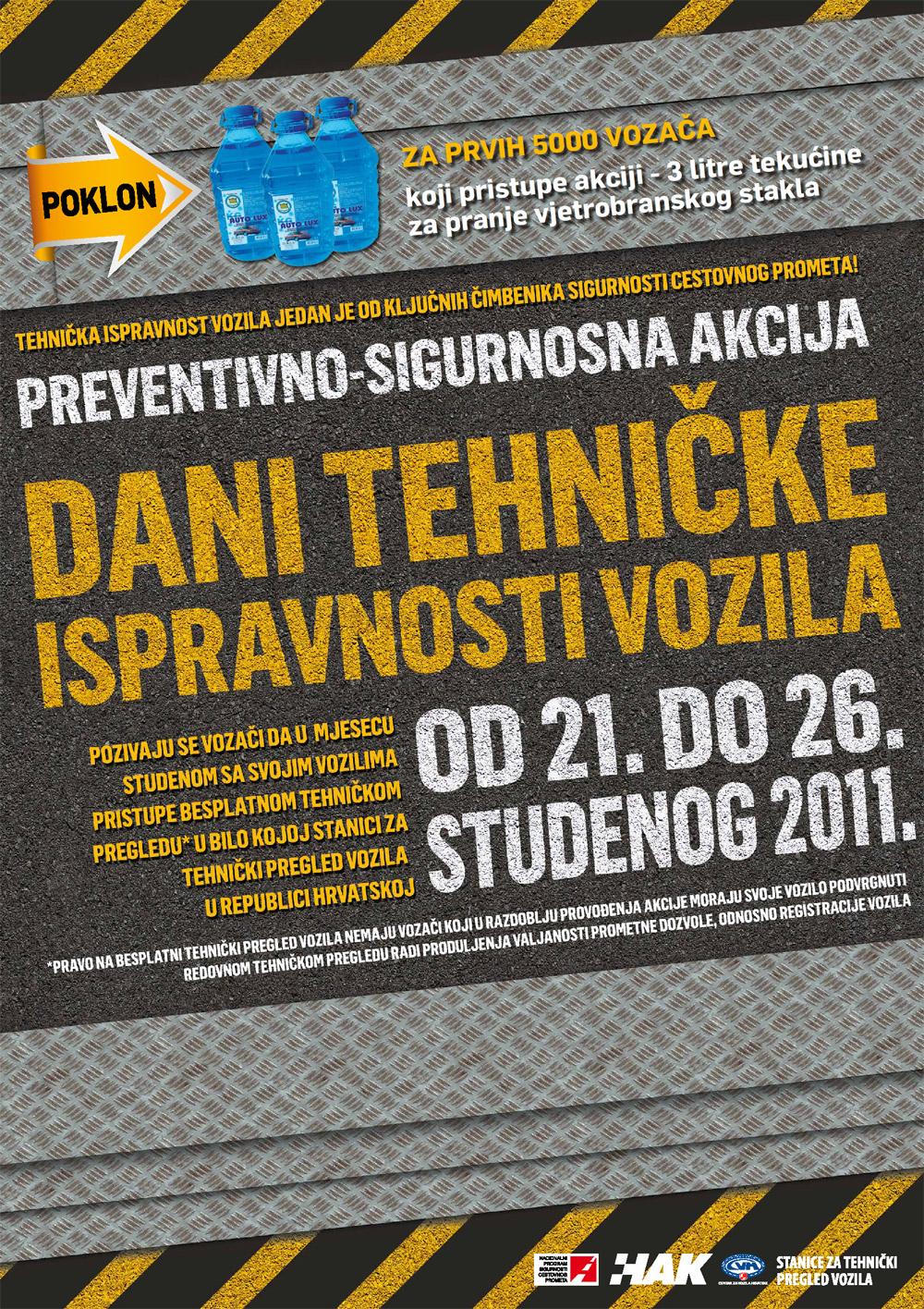 "Plakat ""Dani tehničke ispravnosti vozila"""